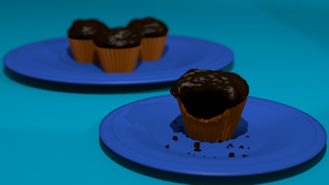 chocolate cupcakes by zoe042