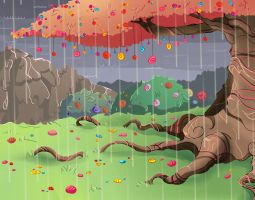 Candy tree by Wraitany