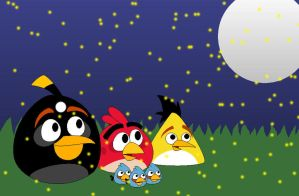 Angry Birds - Look at the Fireflies by Pack-Leader-Sally