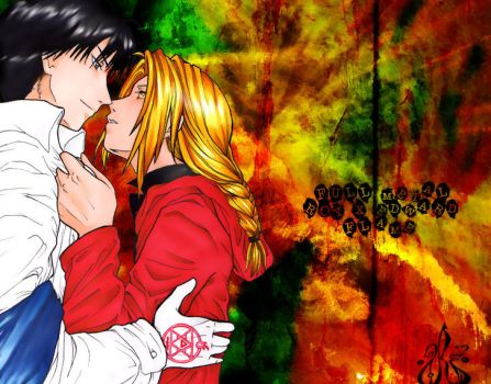 Roy Mustang x Edward Elric by Lurei