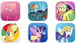 mane 6 IOS 7 icons preview by illumnious