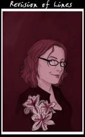 Self Portrait in maroon by RevisionOfLines