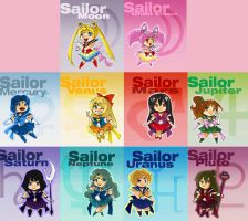 Sailor Moon Chibis by JocelynAda
