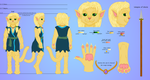 Reference Character sheet for Kat by SailorPhantom