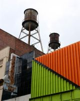 Composition with Water Towers by JaredPLNormand