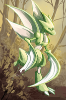 Scyther by Opheleus