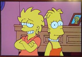 Teenager Bart - lisa head swap by Insert-artistic-nick