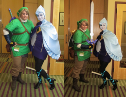 Skyward Sword Link and Fi by sugarpoultry