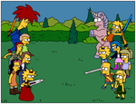 Dissidia: Simpsons Fan Art by Gazmanafc