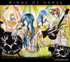 Wings of Horus by TheSketcher