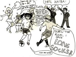 YGOTAS Olympics - Kaiba and Duke's Football by HazelNutsandCream