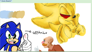 Sonic Iscribble Doodle by Q8yShadow