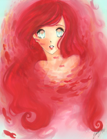 Turning to Seafoam - Ariel by AmaAmaLeeLee
