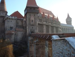 the same castle in Hunedoara by sistematicterror