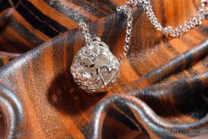 Two heart silver pendant by ZyriFrost
