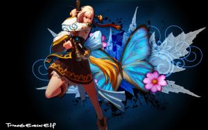 Dungeon Fighter Online- Female Gunner Wallpaper by TooneGeminiElf