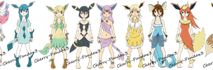 Eeveelution adopts -open- by Cherry-PandaAdopts