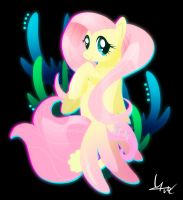 Seapony Fluttershy by Ilona-the-Sinister