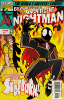 Soryukey Cover Commission: Nightman vs Sideburn by MichaelJLarson