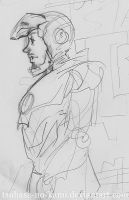 Tony Stark Iron Man Sketch by Tsubasa-No-Kami
