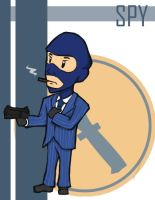 TF2 Chibi Blu Spy by Fir3Ph03n1X