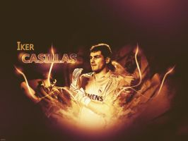 Wallpaper Iker Casillas by j--c