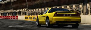 Yellow Acura by Estranged89