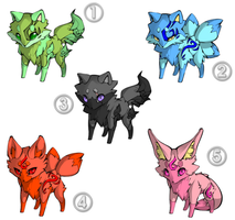Fox Adoptables [OPEN] [0/5] by viexii