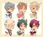Auction : Lucky Baby Species Set 6 [CLOSED] by HyRei