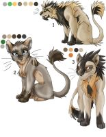 Lion Adoptables SET 1 GONE by Kasara-Designs