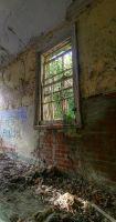 Asylum Window by wreck-photography