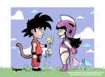 Goku and Chichi by scarecrowhassan