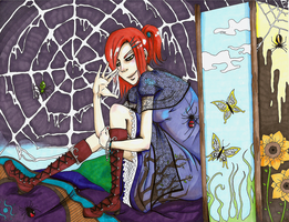Spider's web by r0m1k4