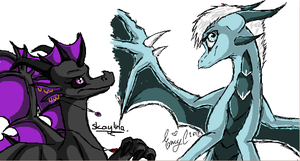 .:Iscribble with Zainnah:. by Skaylina