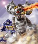 Soundwave and Grimlock by LagunaL8