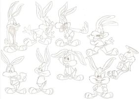 TTA Model Sheet 9 Buster by ThrillingRaccoon