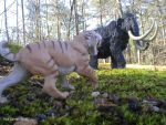 Smilodon Vs Wooly Mammoth. by Carnosaur