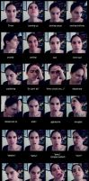 36 Facial Expressions by MySweetQueen