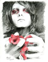 Gerard Way [Black and red, just like him] by lilhydra