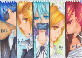 VOCALOID Hand-drawn by iMiloAddict
