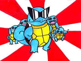Squirtle Squad by kinxmizu
