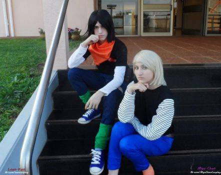 Androide 17 and Androide 18 - Cosplay - by Myu-Chan-Cosplay