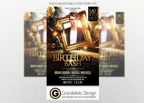 The Birthday Party Flyer Template by Grandelelo