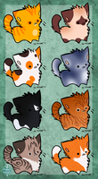 Kitty Adopts - 1/8 OPEN by Daggerstale-Adopts