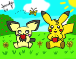 Lunchtime - COLORED by pichu90