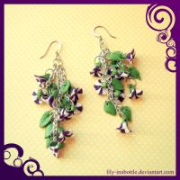 Petunia Earrings by lily-inabottle