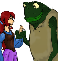 Thumbalina and the Toad by InTheAier