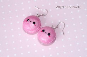 Kawaii macaroon earrings by virahandmade