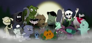 Halloweenies - Group Photo by toonbaboon