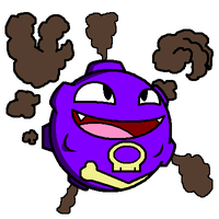Kantodex Art Collab - Koffing by DeathToSquishies